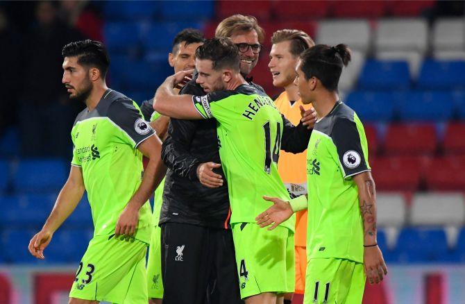 2360c9dfe5a FOTOD: Liverpool võitis väravaterohke mängu, Klavan mängis kolm minutit -  Sport