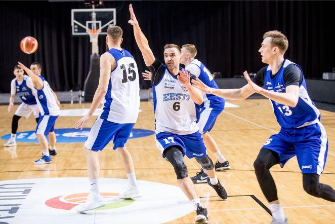 Korvpall - Eesti ja Serbia treening