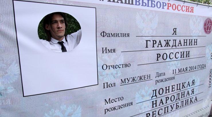 Esimesed 34 donbaslast viidi täna Venemaale passi saama