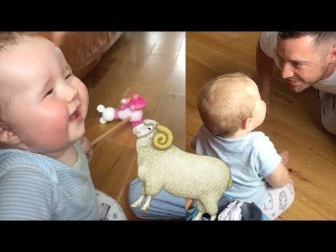 VIDEO: Hirnu herneks! Beebi naerab nagu väike lammas