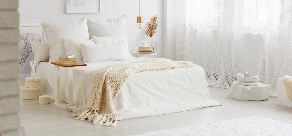 FOTOD | Kuidas sisustada valget värvi magamistuba?