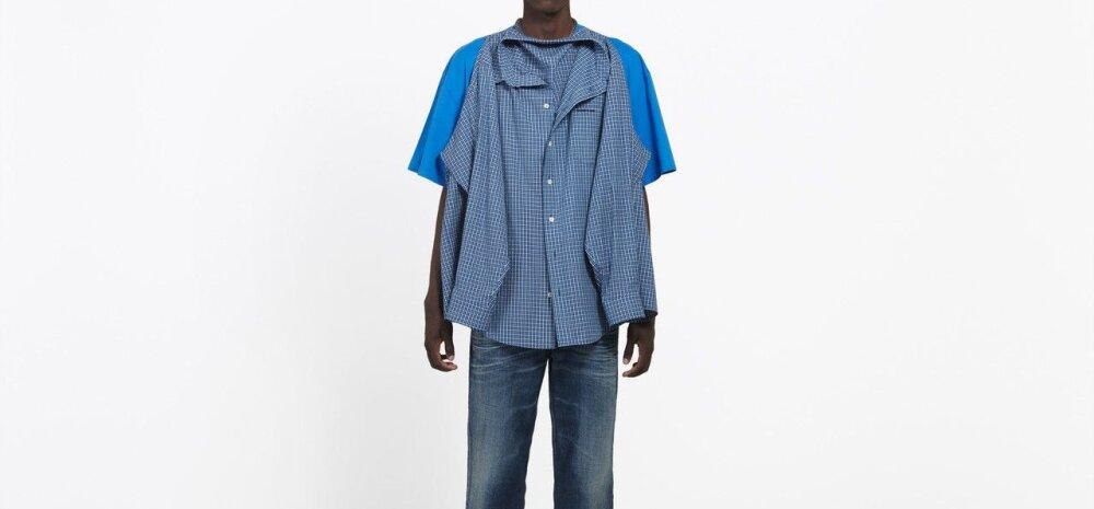 Trendihoiatuse FOTOD | Balenciaga kleepis kaks särki kokku ja väidab, et tegu on selle suve kuumima meestemoega!