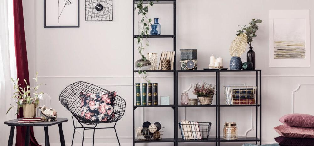 12 IDEED — Hästi valitud riiul säästab elamises ruumi ja on pilgupüüdjaks