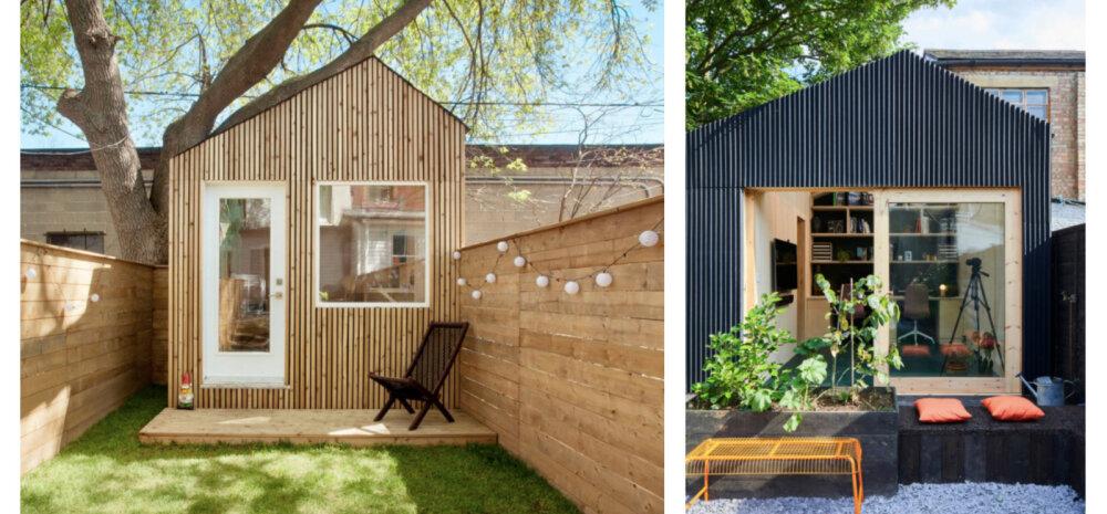 7 inspireerivat kodukontorit, mis on sisse seatud aiamajja