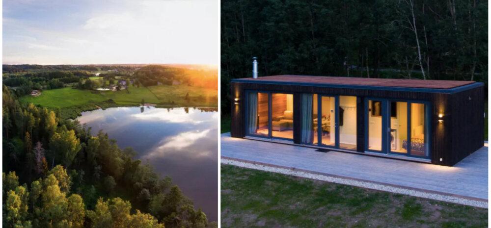 Отдых в Эстонии: ультрасовременный модульный дом-кабина на берегу озера