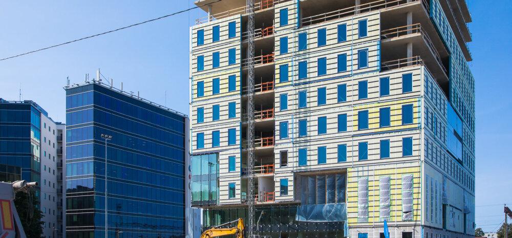 ФОТО И ВИДЕО | Новое здание в Ülemiste City за 25 млн евро достигло максимальной высоты