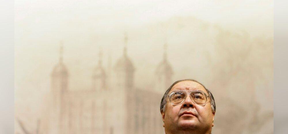 """Ališer Usmanov vaatab ülespoole. """"Seal olin ma eelmisel aastal."""""""