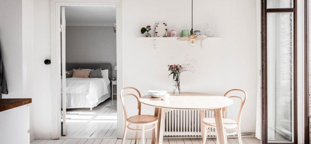 FOTOD | Pisike ja valge kodu, kus puudub telekas ja elutuba