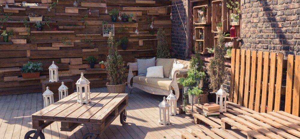 FOTOD: Tellismüüride vahele kujundatud terrass