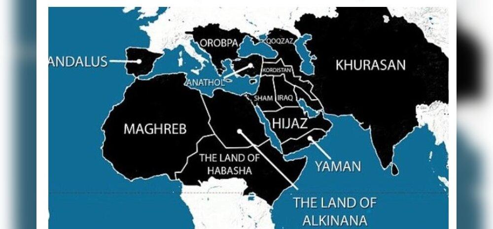 Rindejooned tänases maailmasõjas: alad, kus võimutsevad Islamiriik või al-Qaida
