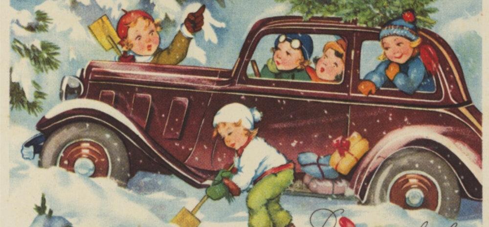 FOTOD | Vaata, milliseid jõulukaarte saatsid eestlased möödunud sajandil