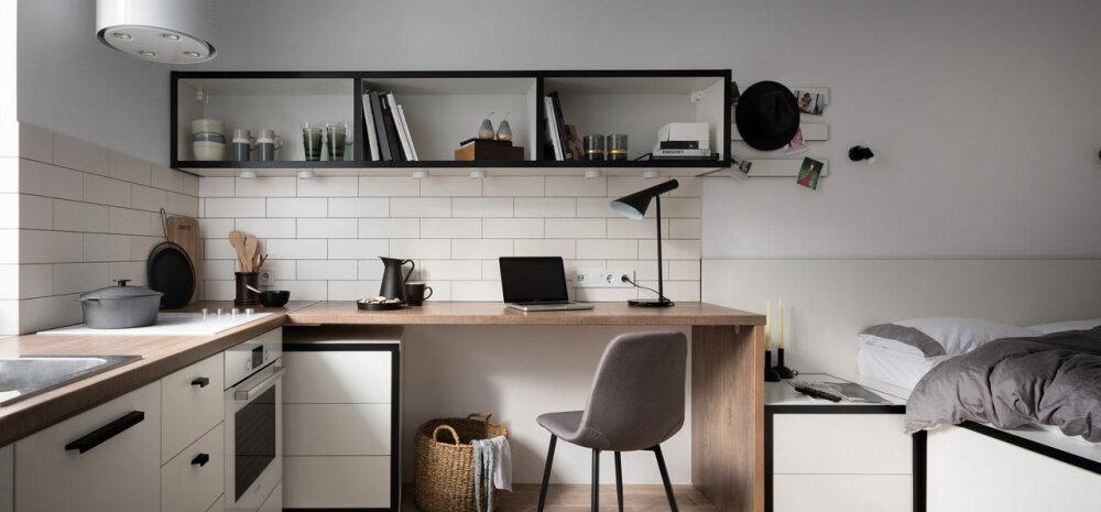 FOTOD | Köök ja magamistuba ühes ehk kodu 17 ruutmeetril