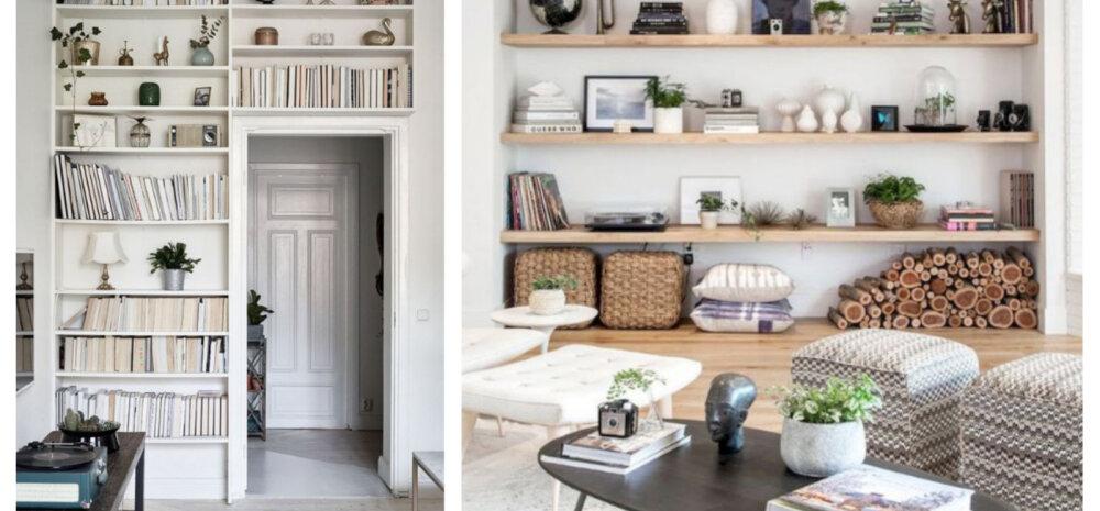 15 ideed — kujunda raamaturiiulist elutoa pärl