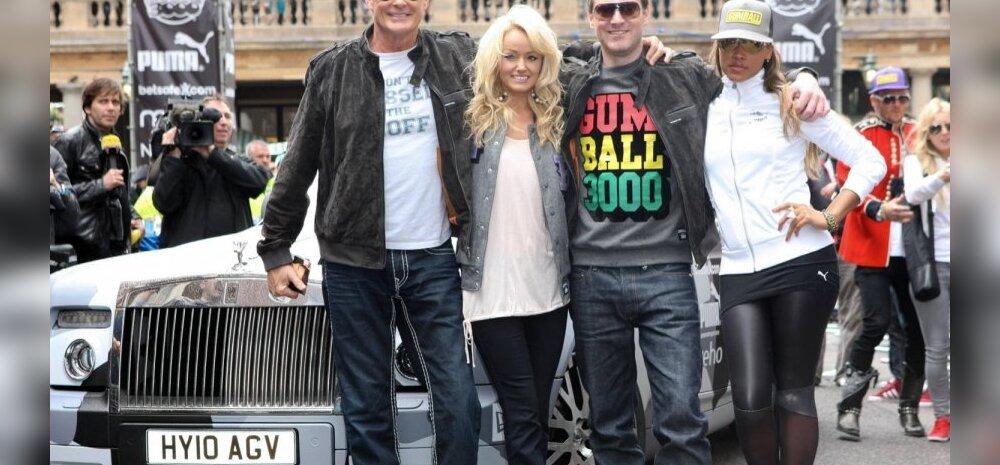 David Hasselhoff, Hayley Hasselhoff, Maximillion Cooper ja Eve Gumball 3000 avamisel Londonis 2011. aastal.
