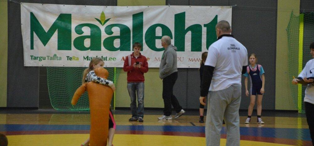 Maalehe VI maadlusturniiri esimene päev Väike-Maarja spordihoones
