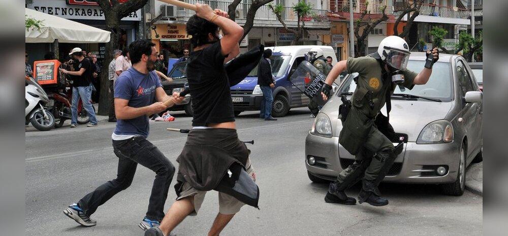 """Kreeka """"ei saa aru, mis selle pangakontori süütamises valesti on"""" revolutsioon"""