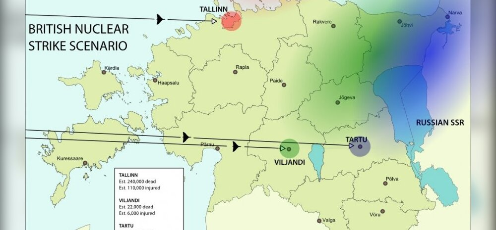 Tuumasõja korral oleks Briti pommid tapnud Eestis vähemalt 355 000 inimest