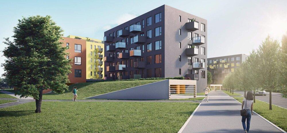 Вопреки кризису на рынке недвижимости: в Мустамяэ строится целых 10 домов с 340 квартирами