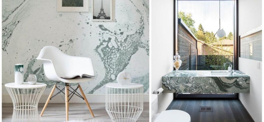 Uus kuum trend — roheline marmor interjööris