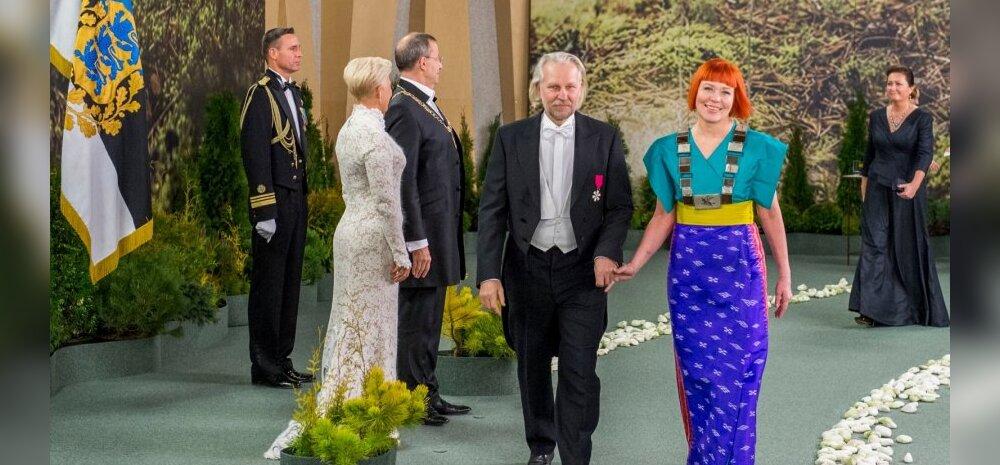 Eesti Kunstiakadeemia rektor Signe Kivi ja kunstnik Kalju Kivi