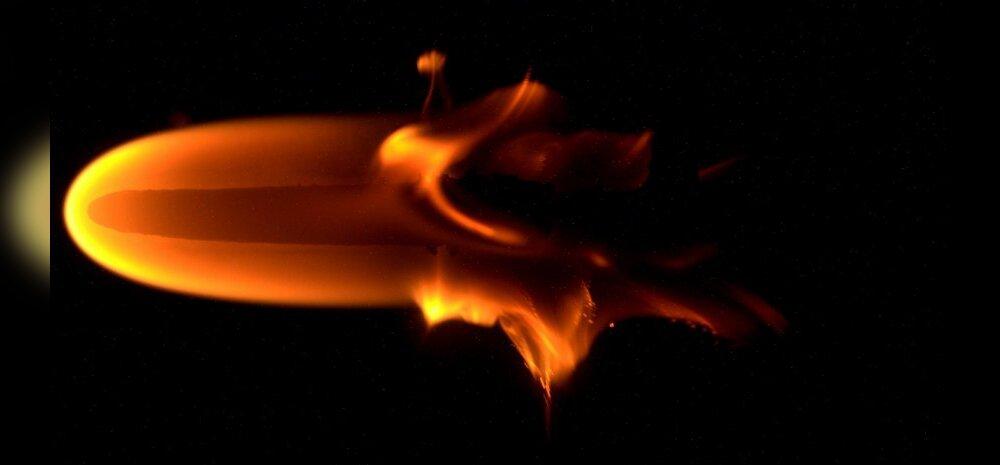 Selline on leek kaaluta olekus: kosmosejaamas mängiti tulega