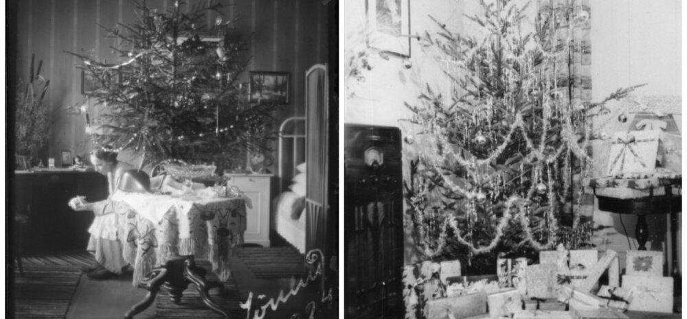VANAD FOTOD | Vaata, millised nägid välja pühadeaegsed kodud eelmisel sajandil