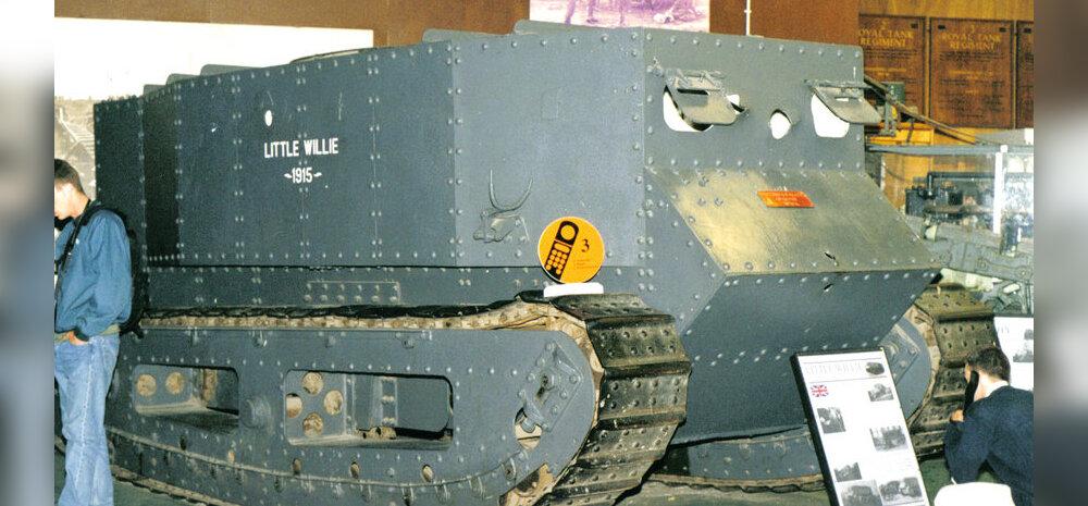 Teraskilpidega kaetud traktor: Selline oli maailma esimene tank