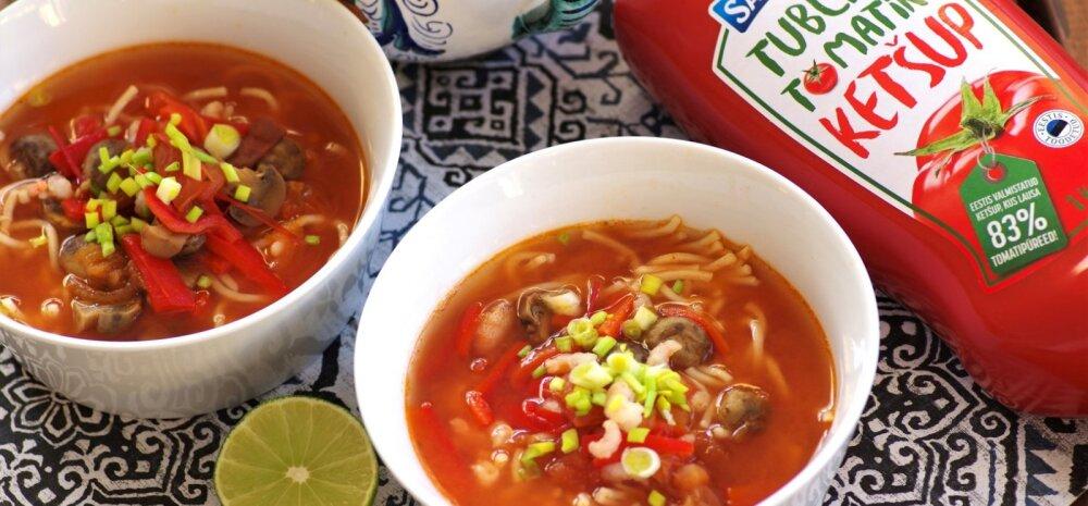 Proovi järele! Vürtsikas tomati-krevetisupp teeb hetkega erksaks