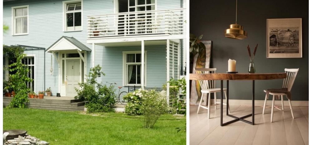Imeline maja Pärnus, mis võlub laheda sisekujunduse ja ülisuure hooviga