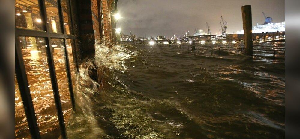 Veetase Hamburgis tõusis tormi tõttu rekordtasemele