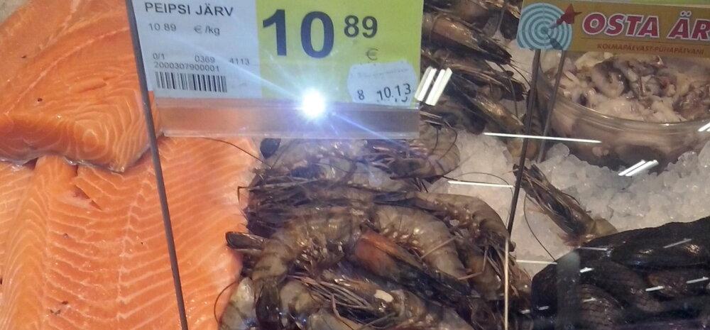 FOTO: Ei või olla!? Meie poodides on saadaval Peipsi järvest pärit tiigerkrevett