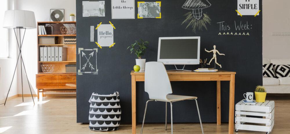 Sisustusnõuandeid: Kuhu mahutada kodukontor, kui ruumi on vähe?