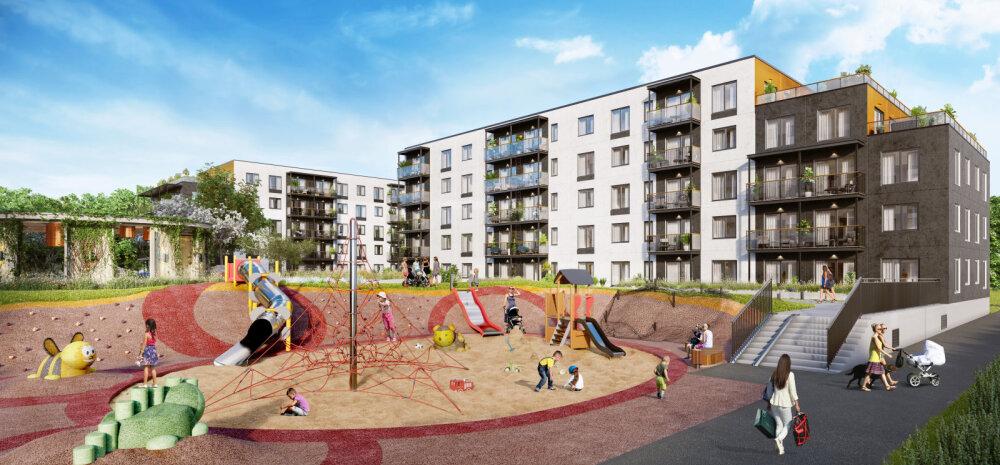 ГАЛЕРЕЯ | Крупнейшие семейные квартиры и мойка для животных — в Таллинне построят новый жилой район