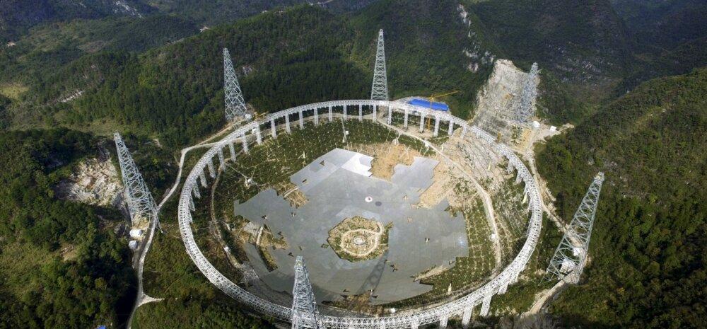 Hiina hiigelteleskoobi rajamisel tõstetakse kodunt välja tuhandeid inimesi