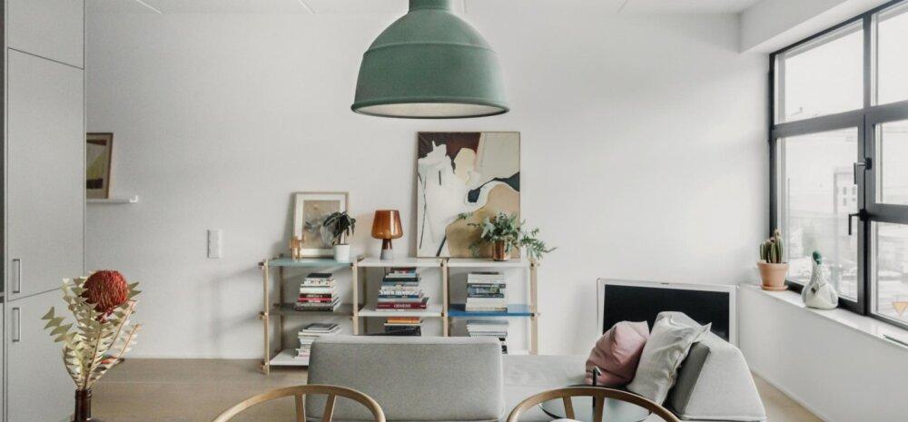 Hea disaini ja värvikate detailidega täidetud põhjamaine kodu
