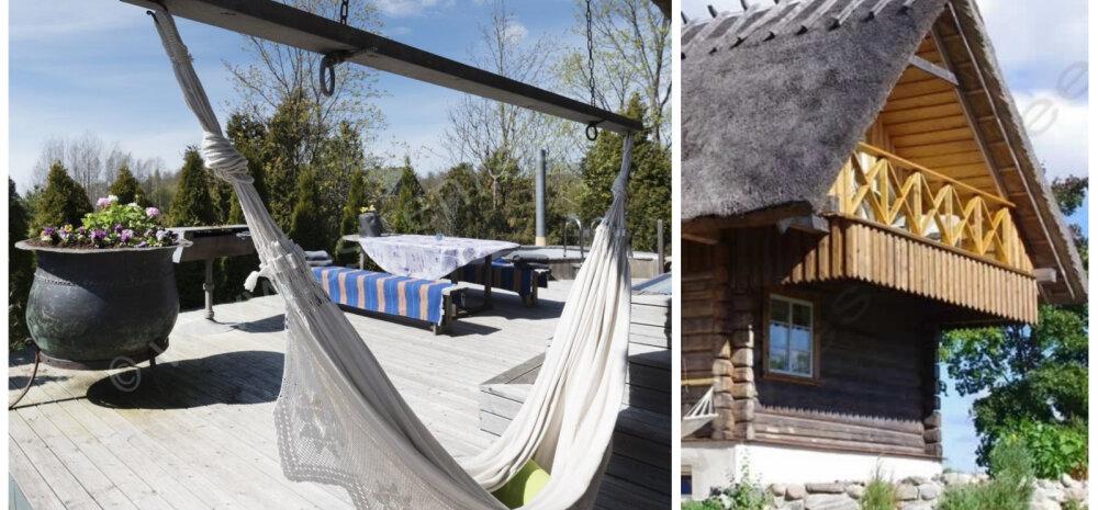 Красота по-скандинавски: бревенчатый дом с купелью у моря
