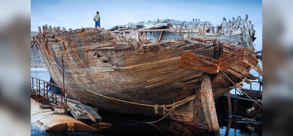 Roald Amundseni uppunud laev on pinnale tõstetud ja ootab tagasiteed koju