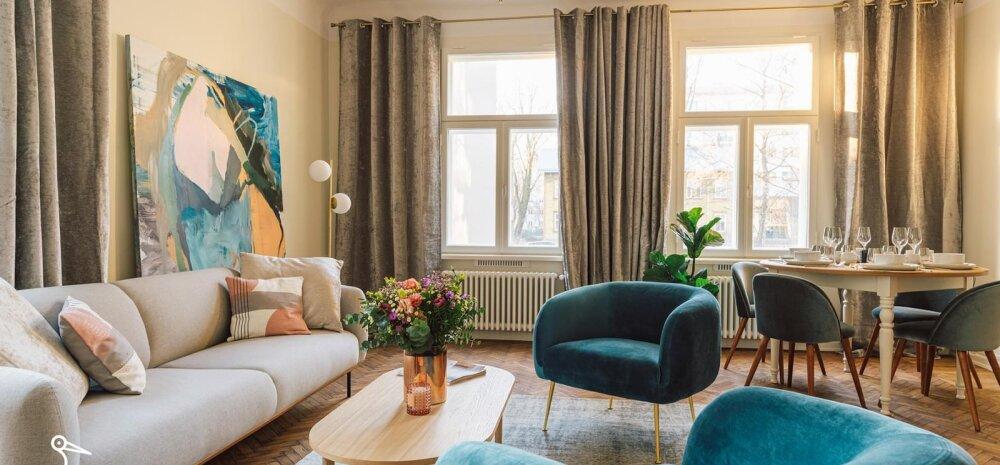 ФОТО | Как стильно и современно выглядит отреставрированная квартира в историческом доме в Кадриорге!