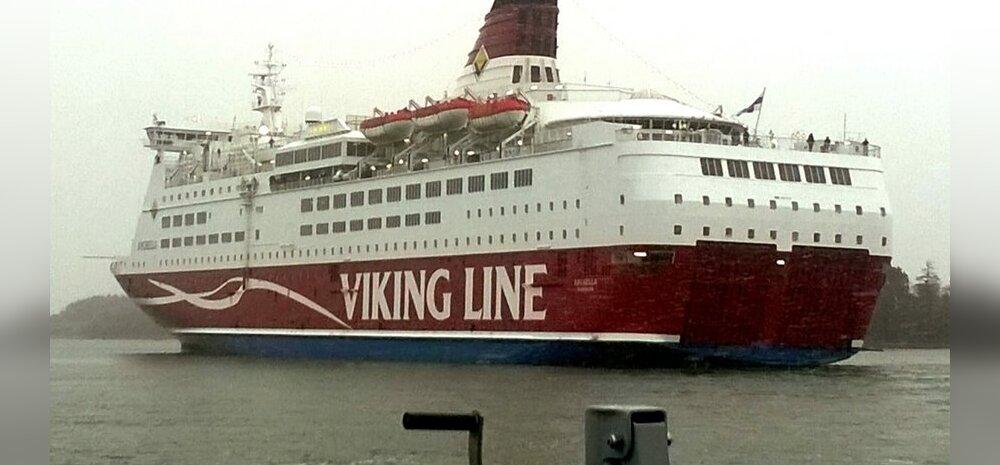 FOTOD: Madalikule jäänud Viking Line'i Amorella reisijad veetsid öö Marienhamnis