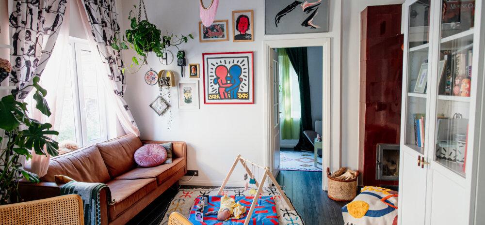 ФОТО | Смотрите, в какой квартире в Каламая живет дизайнер Хелене Ветик с мужем, дочерьми и двумя котами!