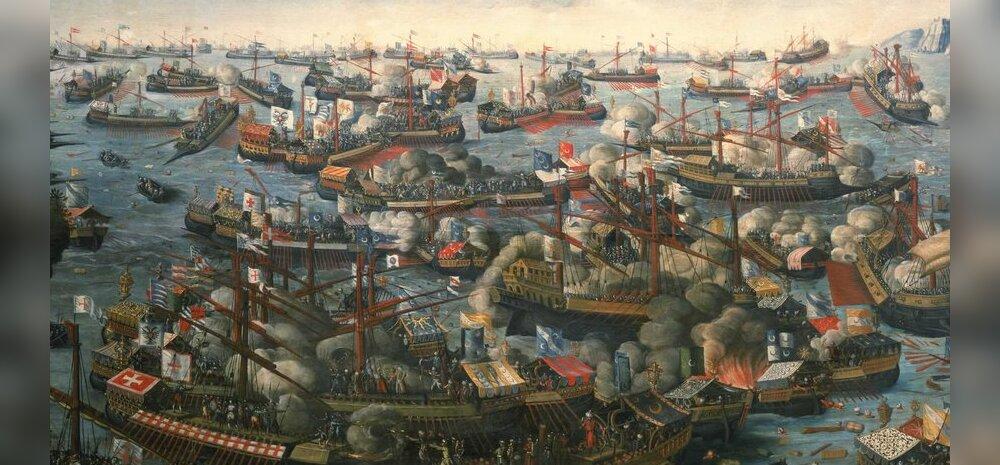 Lepanto merelahing - koht, kus kristlik Euroopa lõpetas türklaste edenemise Vahemerel