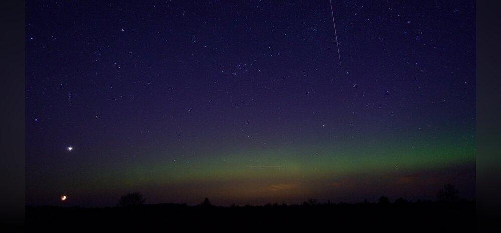 FOTO KUUSALUST: Leia pildilt Kuu, Veenus ja virmalised!