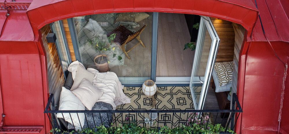 FOTOD | Pisike katusekorter, mida täiendab hubane rõdu