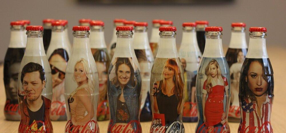 Coca-Cola kinkis staaridele enda pildiga pudeli