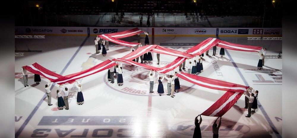FOTO: KHL tõlgendas Riia Dinamo iseseisvuspäeva teemalise avatseremoonia natsisümboolikaks ja tegi trahvi