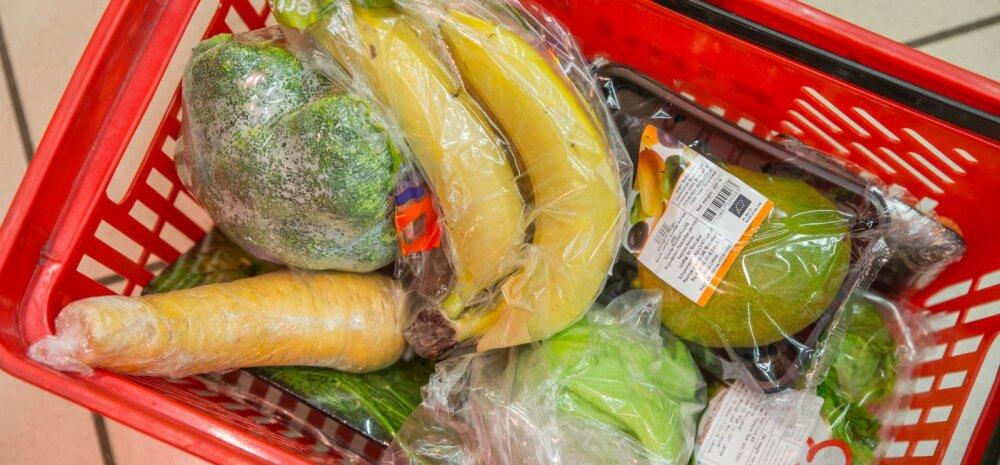 Kiletatud köögi- ja puuviljad poes