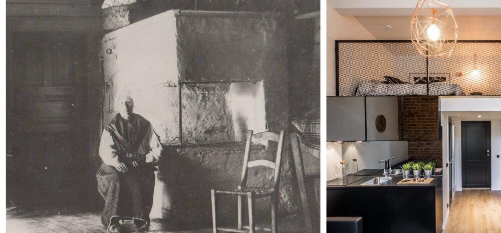 Muldpõrandaga tarest moodsasse <em>loft'</em>i. Vaata, kuidas on meie kodune keskkond viimaste aastasadade jooksul muutunud!