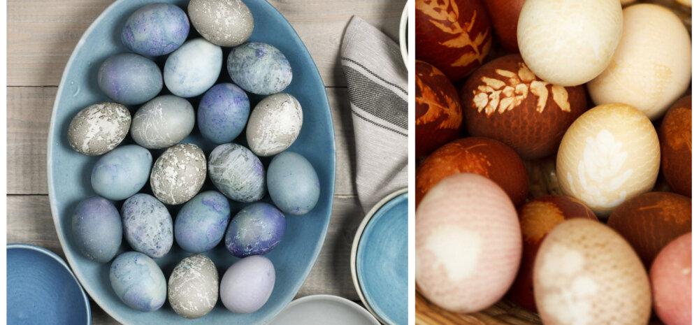 Looduslikud munavärvid leiab juurviljaletist ja külmkapist