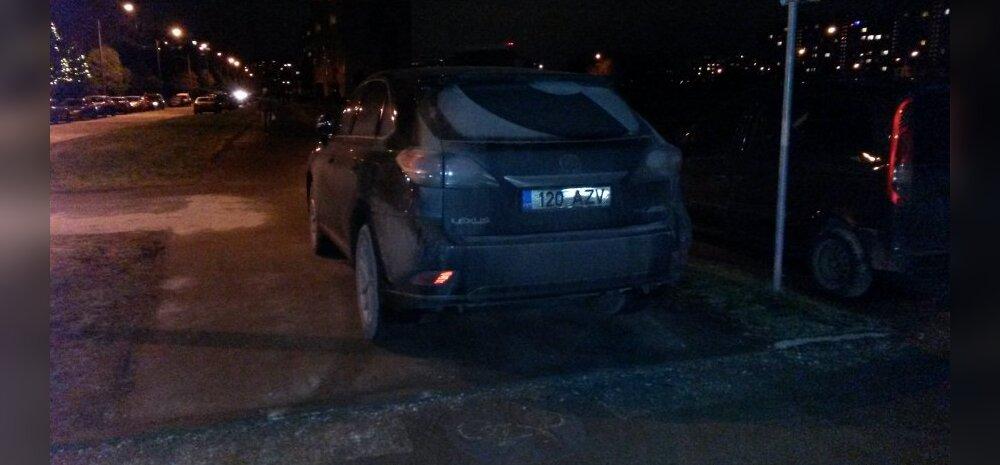 FOTO: Lexuse maastur blokeeris Lasnamäel kergliiklustee