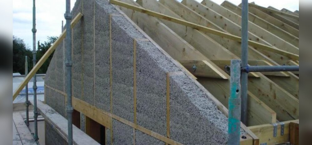 Дома из конопли требуют в 3 раза меньше тепла для обогрева жилища, чем дома из бетона